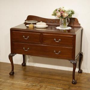 英国イギリスアンティーク家具 美しいデザイン マホガニー チェスト 猫脚 ボール&クロウ 8626W qs-antiques