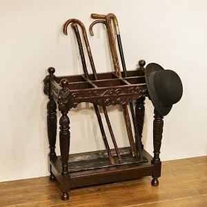 英国イギリスアンティーク家具 1900年代 ビクトリアン ステッキスタンド アンブレラスタンド 傘立て 8711|qs-antiques