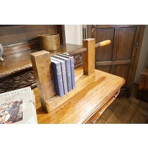 英国アンティーク 蚤の市で見つけた 製本用クランプ 万力 1930年代 S103|qs-antiques