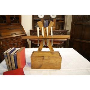 英国アンティーク 蚤の市で見つけたナイフラック パイン材 1930年代 S104|qs-antiques