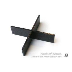 シンプルスクエアタッパー重箱専用 十字仕切り 黒 /重箱とあ...