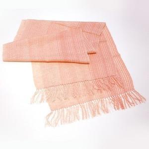 (福岡県朝倉市)桜染 スピンコット手織りショール|qtsuhanshop