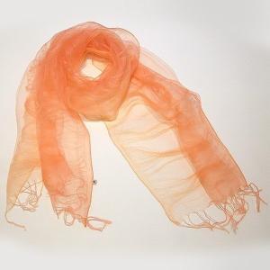 (福岡県朝倉市)桜染 二重羽衣スカーフ(ピンク)|qtsuhanshop