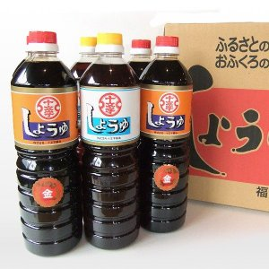 (福岡県朝倉市) 九州うまくち醤油 こいくち・うすくち6本セット|qtsuhanshop
