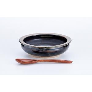 【送料無料】すくえるリムディッシュ 18cm(スプーン別売)ギフト 誕生日 陶器 古希 喜寿 傘寿 米寿 贈り物 陶器 カレー皿  お祝い qtsuhanshop