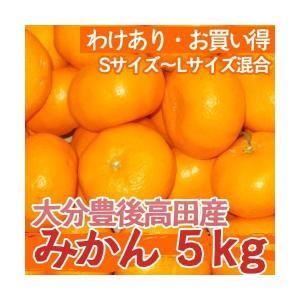 【送料無料】【訳あり・お買い得】大分県豊後高田産の訳ありみかん 5kg(S-Lサイズ混合)|qtsuhanshop