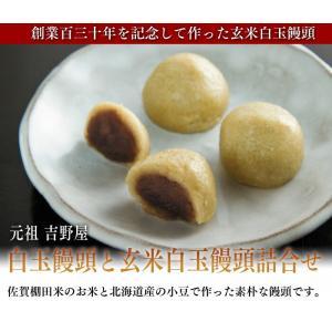 【九州佐賀】元祖吉野屋のこだわり白玉饅頭と玄米白玉饅頭詰合せ 5袋x2セット 計10パック【添加物不使用】|qtsuhanshop