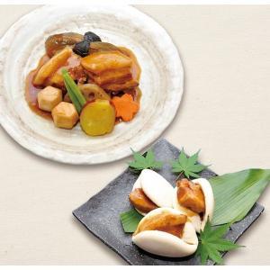 【玄海町居酒屋楽縁】豚の角煮と野菜の炊き合わせ&角煮まんセット|qtsuhanshop