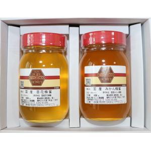 国産純粋はちみつ600g入×2本セット【百花蜂蜜・みかん蜂蜜】|qtsuhanshop
