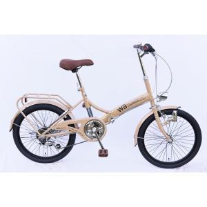 【送料無料】ラグジュリアス206折りたたみ自転車(色:カフェ)|qtsuhanshop