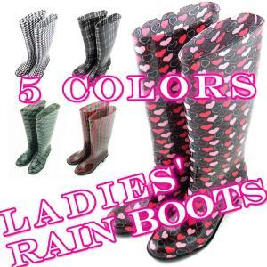 【セール品】【在庫一掃】5タイプ選択可能 レインブーツ Ladies' Rain Boots ヒール5.5cm【あすつく】|qualite21