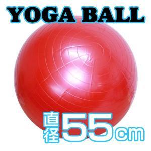 ヨガボール/直径約55cm 簡単にダイエット!テレビを見ながらエクササイズ!付属品ポンプ付き|qualite21