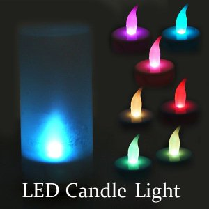 ゆらゆら&吹いた息でも消えるキャンドル!安全安心燃えないLEDキャンドル!TEA LIGHT LEDライトキャンドル|qualite21