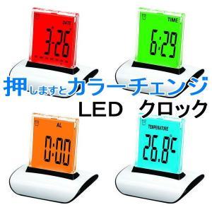 置時計 おしゃれ 目覚まし時計 IDEA LEDアラームクロック ニーク ブラック 置き時計 デジタル時計 目覚し時計 アラーム|qualite21