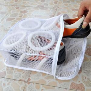 シューズ洗濯ネット そのまま干せるアイデアグッズ 靴 スリッパ 上履き スニーカー サンダル|qualite21