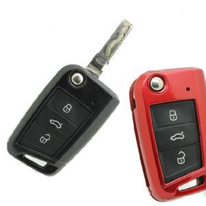 フォルクスワーゲン ゴルフ7 キーケース 保護カバー VW アクセサリー ドレスアップパーツ 取り付け カスタム|qualite21