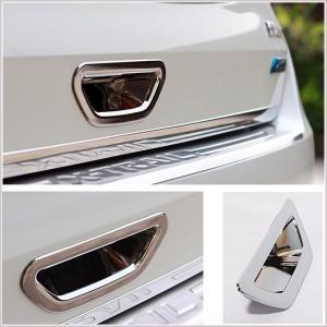 日産 エクストレイル T32型 X-TRAIL バックドアハンドルガーニッシュ 鏡面メッキ仕上げ 保護 ドレスアップパーツ 取り付け カスタム シルバー|qualite21