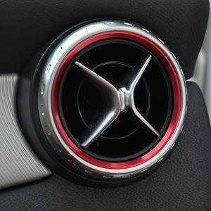 メルセデス・ベンツ用 エアコンリング 吹き出し口のドレスアップ 5個セット アルミ製 Mercedes-Benz アクセサリー 保護/パーツ 取り付け カスタム AMG|qualite21