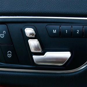 メルセデス・ベンツ用 パワーシート ポジション調整ボタン スイッチカバー 左右6個セット   Mercedes-Benz  保護 取り付け|qualite21