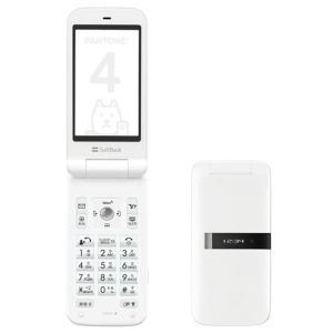 「新品 未使用品」利用制限〇 Softbank PANTONE 4 105SH White ホワイト [白ロム][携帯][sharp][シャ-プ]|quality-shop