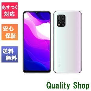 「新品 未使用 白ロム」SIMフリー XIAOMI Mi 10 Lite 5G XIG01 Dream White ※赤ロム保証[au simロック解除][simfree][6GB/128GB]|quality-shop