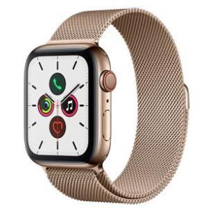 「国内正規販売品 未開封品」Apple Watch Series 5(GPS + Cellularモデル)- 44mmゴールドステンレススチールケースとゴールドミラネーゼループ [MWWJ2J/A]|quality-shop