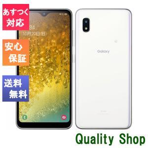 「新品 未使用品 白ロム」SIMフリー Galaxy A20 scv46 white ※赤ロム保証「サムソン/Samsung]「auからSIMロック解除]|quality-shop
