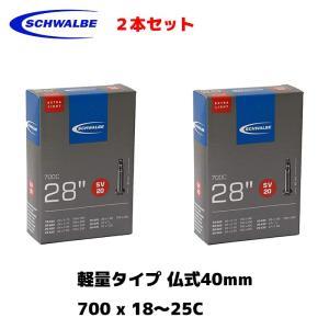 Schwalbe シュワルベ 2本セット チューブ 700x18-25c 軽量タイプ 65g 仏式 ...