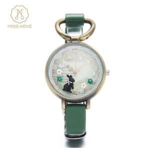 MISSKEKE ミスケケ レディース 腕時計 クレイウォッチ メルヘン ロリータ 安い うさぎ ウサギ かわいい ゆめかわ アンティーク 原宿系 生活防水 プレゼント|quart2