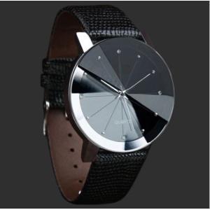 メンズ 腕時計 黒 ブラック 革 ベルト 人気 おしゃれ かっこいい 珍しい 安い 10代 20代 30代|quart2