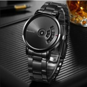 WoMaGe メンズ 腕時計 シンプル 珍しい 金属バンド メタル おしゃれ 安い ファッション 人気 10代 20代 30代|quart2