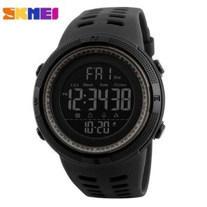 SKMEI メンズ 腕時計 デジタル LED 防水 クロノグラフ カレンダー 黒 シンプル 大き目 安い 多機能 スポーツ 10代 20代 30代|quart2