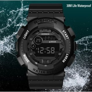 HONEX メンズ 腕時計 デジタル LED 防水 クロノグラフ カレンダー 黒 安い 多機能 スポーツ 10代 20代 30代|quart2
