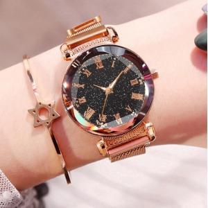 星空ウォッチ 星空腕時計 腕時計 レディース フラワーカット ローマ字 防水 プチプラ 安い 星空 かわいい おしゃれ ギフト プレゼント|quart2