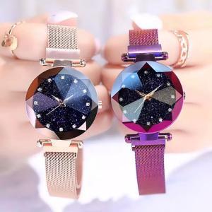 星空ウォッチ 星空腕時計 腕時計 レディース クリスタルカット ラインストーン 生活防水 プチプラ 安い 星空 かわいい おしゃれ ギフト プレゼント|quart2
