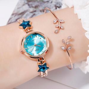 Disu 腕時計 ブレスレットつき レディース 金具バンド かわいい 星柄  ファッションウォッチ 安い プチプラ|quart2