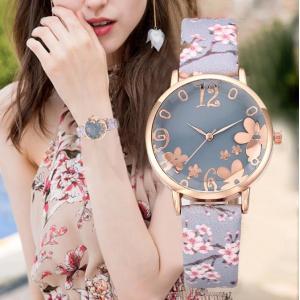 腕時計 レディース 花柄 かわいい デザインベルト プリントベルト ファッションウォッチ 安い プチプラ おすすめ|quart2