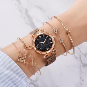 星空ウォッチ 星空腕時計 腕時計 レディース ブレスレット付き クリスタルカット プチプラ 安い 星空 かわいい ギフト プレゼント 防水|quart2