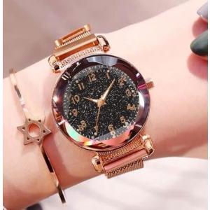 星空ウォッチ 星空腕時計 腕時計 レディース フラワーカット 数字 生活防水 安い 星空 宝石 かわいい おしゃれ ギフト プレゼント|quart2