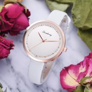 腕時計 レディース シンプル かっこいい ラインストーン プチプラ 安い レディースウォッチ レザーバンド|quart2