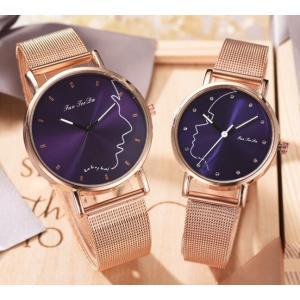 ペアウォッチ カップル 腕時計 メンズ レディース プチプラ シンプル かわいい ギフト プレゼント メッシュベルト おそろい 10代 20代 30代 quart2