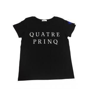 こちらの商品はQUATRE PRINQオリジナルのロゴTシャツです。  シンプルだけど存在感のあるデ...