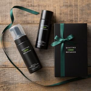 メンズ オールインワン化粧水と泡洗顔のギフトセット (箱入り&紙袋付き) | クワトロボタニコ  父の日など男性へのプレゼントにメンズコスメ
