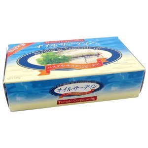 オイルサーディン缶 いわし油漬け 箱入り 125g×25個入 缶詰 トマトコーポレーション|quattroline|02