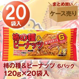 柿の種&ピーナッツ6パック 120g×20袋入り いこい|quattroline