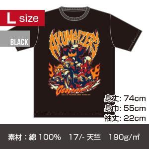アクマイザー3 プリントT-シャツ/ブラック Lサイズ|quattroline