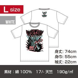 バルタン星人T-シャツ/ホワイト Lサイズ|quattroline