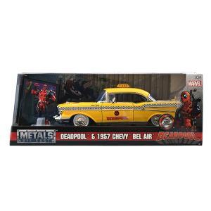 デッドプール ハリウッドライド1957 Bel Air 1/24 フィギュア付 メタルダイキャスト|quattroline
