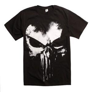 Lサイズ マーベル パニッシャー スプレーロゴTシャツ|quattroline