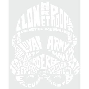 ルームメイツ/スターウォーズ タイポグラフィック クローン トルーパー/ピール&スティック ジャイアント ウォール デカール|quattroline|05